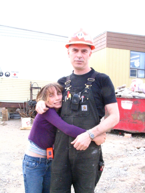 Danyelle and Dad HayRiver Jobsite 2005